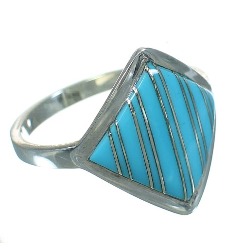 Silver Turquoise Southwest Ring Size 5-3/4 YX69809