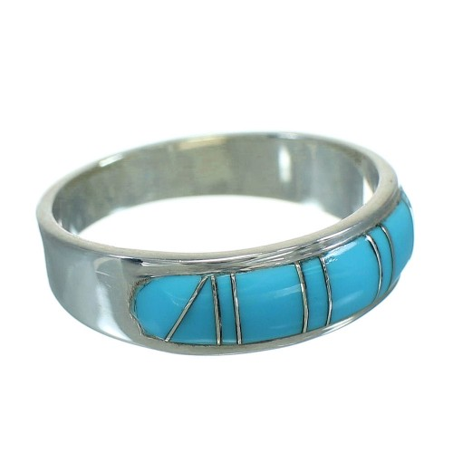 Southwest Turquoise And Sterling Silver Ring Size 8-1/2 YX69844