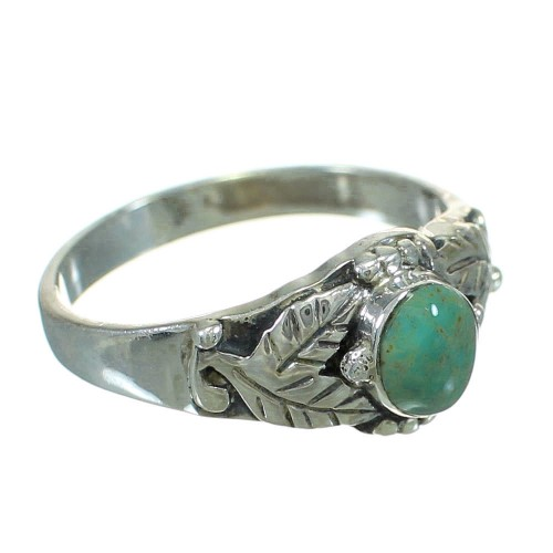 Silver Turquoise Southwest Ring Size 5-1/4 YX81094