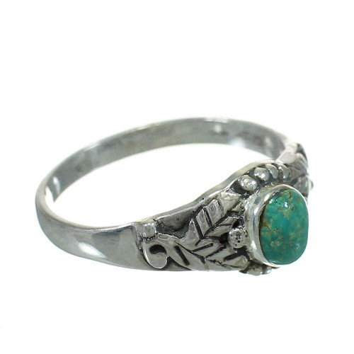 Sterling Silver Turquoise Southwestern Ring Size 7-3/4 YX81107