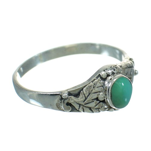 Southwest Turquoise Sterling Silver Ring Size 5-3/4 YX81143