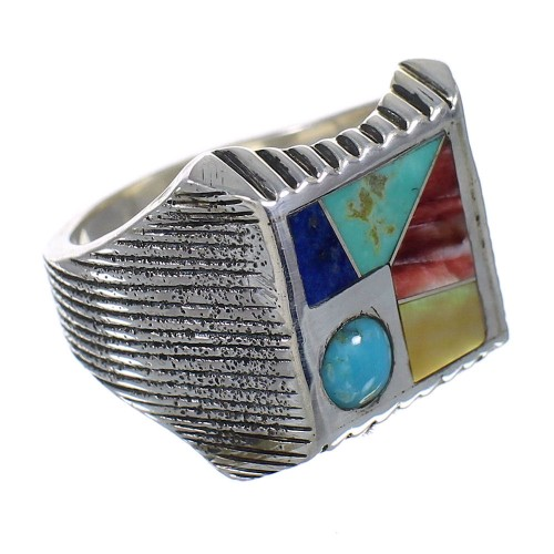 Multicolor Silver Southwest Ring Size 8 YX75811