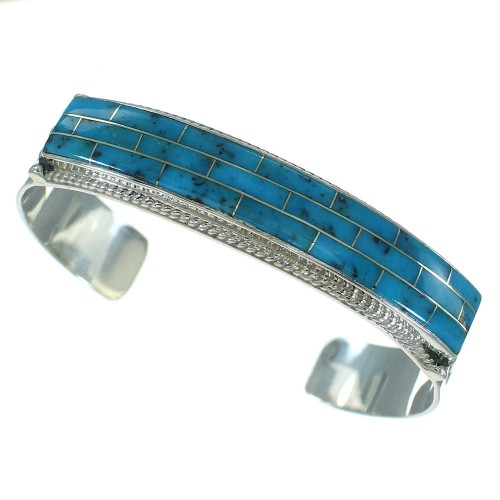Genuine Sterling Silver Turquoise Cuff Bracelet VX65391