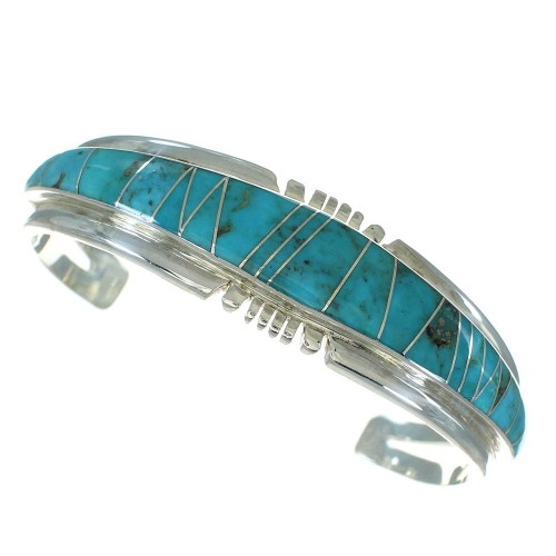Southwest Sterling Silver Turquoise Cuff Bracelet VX65407