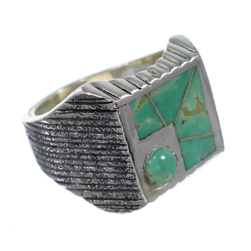 Sterling Silver And Turquoise Southwestern Ring Size 6-1/4 WX80893