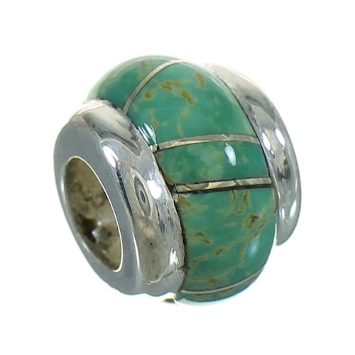 Turquoise Sterling Silver Southwest Bead Pendant MX65611