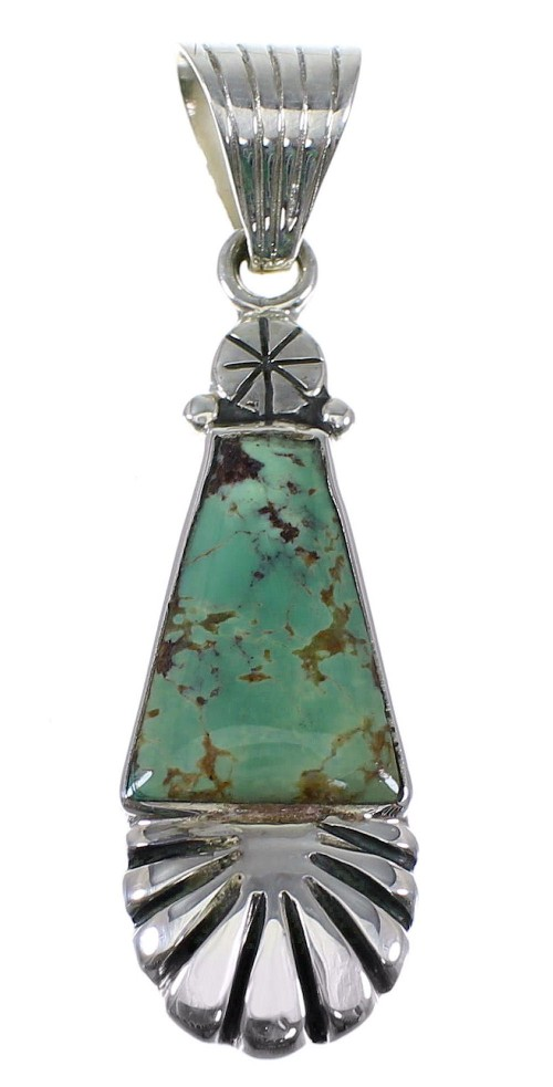 Turquoise Authentic Sterling Silver Southwestern Pendant RX82195