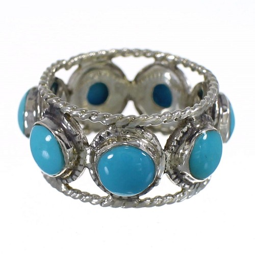 Turquoise Silver Southwest Ring Size 4 YX78678