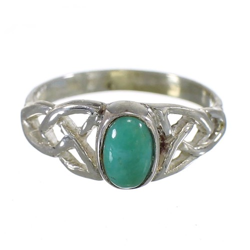 Turquoise Sterling Silver Southwest Ring Size 6-3/4 QX74879