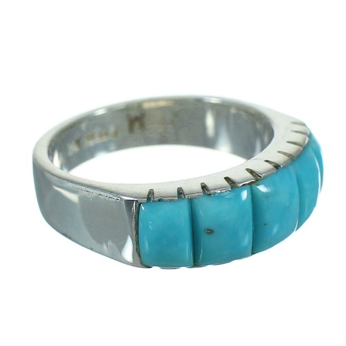 Turquoise And Silver Southwest Jewelry Ring Size 5-3/4 YX76518