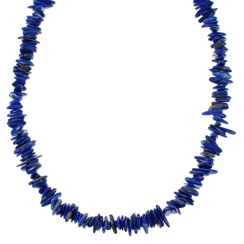 Southwerst Lapis Sterling Silver Bead Necklace WX66032