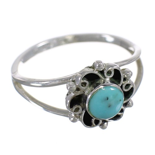 Turquoise And Authentic Sterling Silver Southwestern Jewelry Ring Size 8-1/4 YX68801