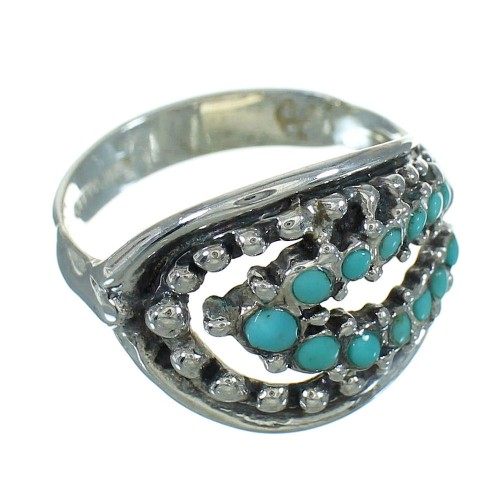 Turquoise Southwest Sterling Silver Jewelry Ring Size 8 YX71635