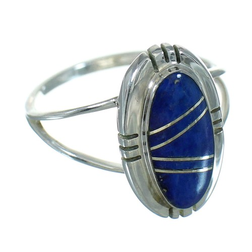 Southwestern Sterling Silver Lapis Ring Size 5-1/2 RX82422