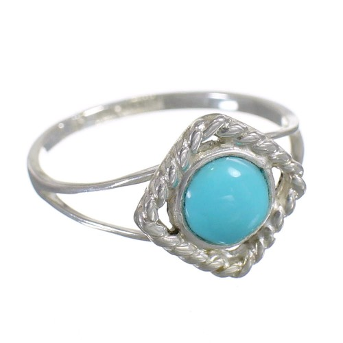 Sterling Silver Turquoise Southwestern Ring Size 5-3/4 YX79956