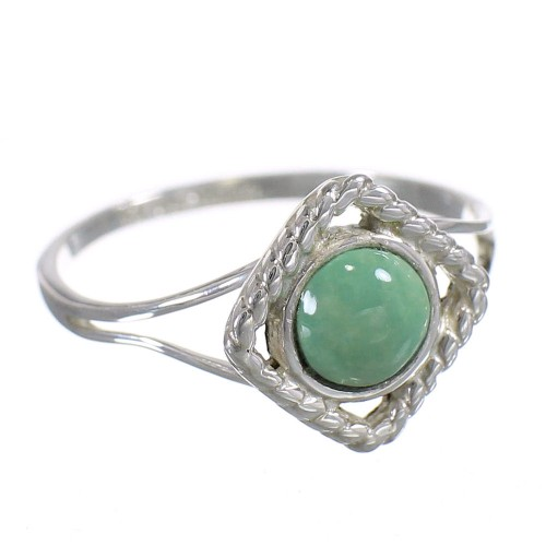 Sterling Silver Southwest Turquoise Jewelry Ring Size 7-1/2 YX73846
