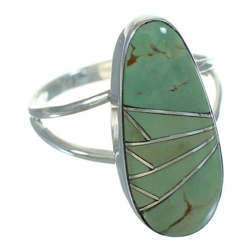 Southwest Sterling Silver Turquoise Ring Size 5-1/4 YX69533