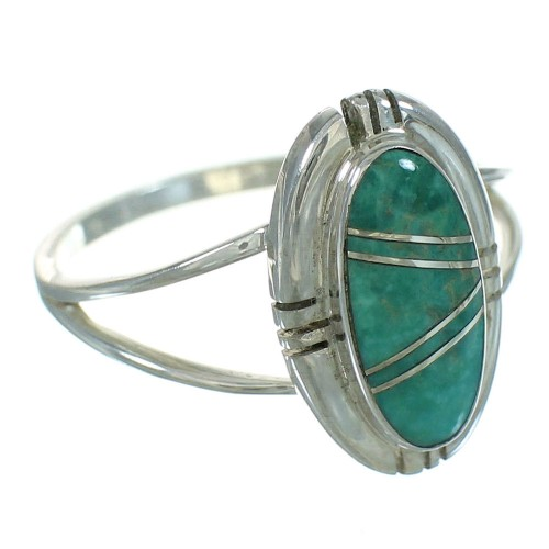 Turquoise And Authentic Sterling Silver Southwest Ring Size 4-3/4 YX69622