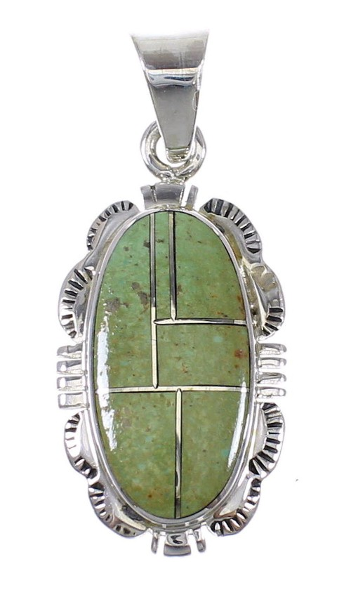Turquoise Sterling Silver Southwest Pendant QX78947