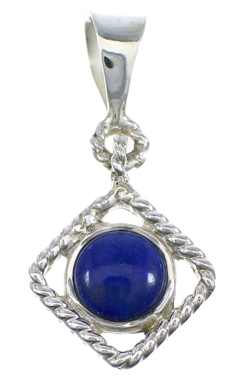 Southwest Lapis And Genuine Sterling Silver Pendant YX67250