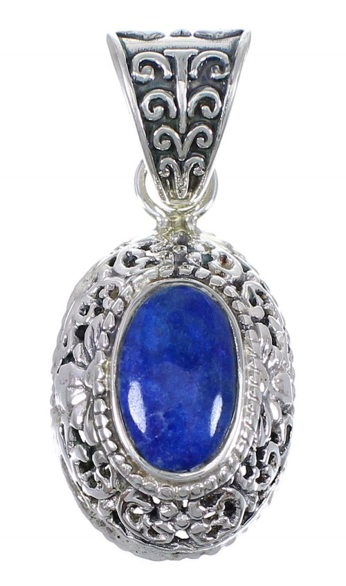 Southwestern Lapis And Genuine Sterling Silver Pendant YX67252