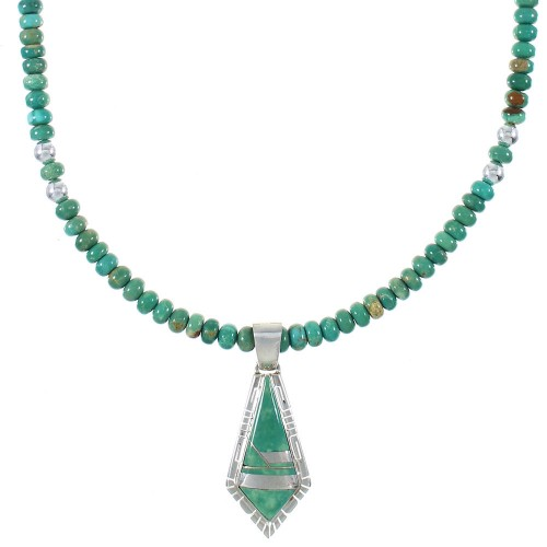Turquoise And Sterling Silver Necklace Set RX94462