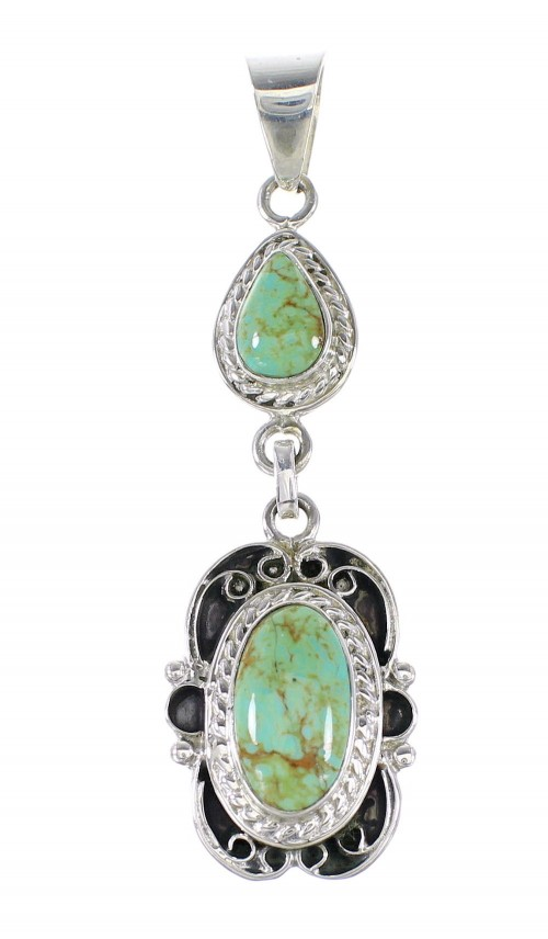 Sterling Silver Turquoise Southwest Jewelry Pendant RX95353