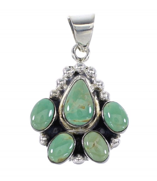 Genuine Sterling Silver Turquoise Jewelry Pendant RX95368