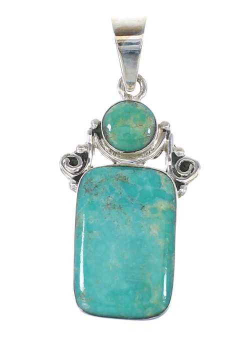 Sterling Silver Southwest Turquoise Pendant RX95379