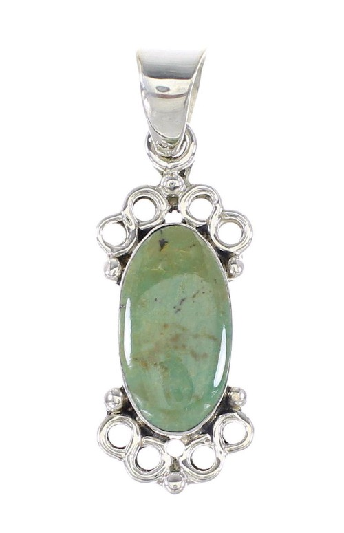 Turquoise And Genuine Sterling Silver Pendant RX95384