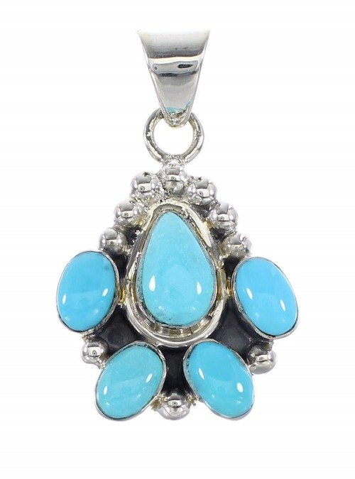 Turquoise Southwestern Jewelry Silver Pendant AX95328