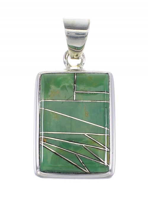 Genuine Sterling Silver Turquoise Jewelry Pendant AX95452