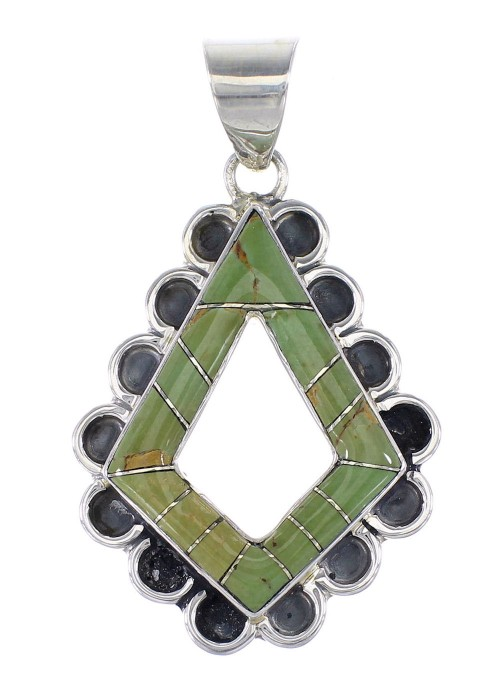 Turquoise Sterling Silver Pendant AX95486