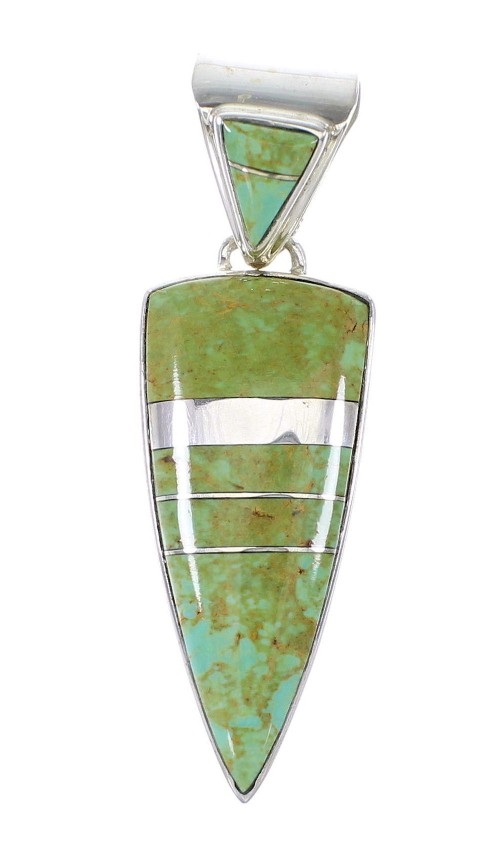 Silver Jewelry Turquoise Southwest Pendant AX95548