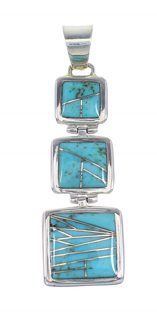 Sterling Silver Turquoise Pendant AX96459