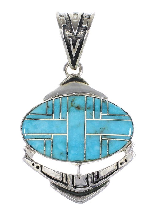 Silver Southwest Turquoise Pendant AX96474