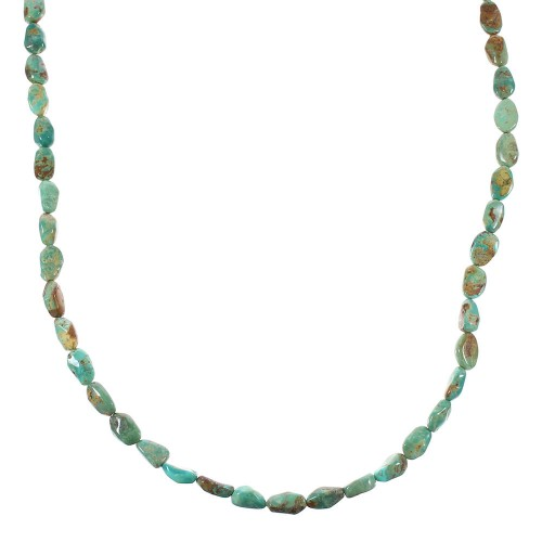 Turquoise Sterling Silver Southwest Bead Necklace NX96363