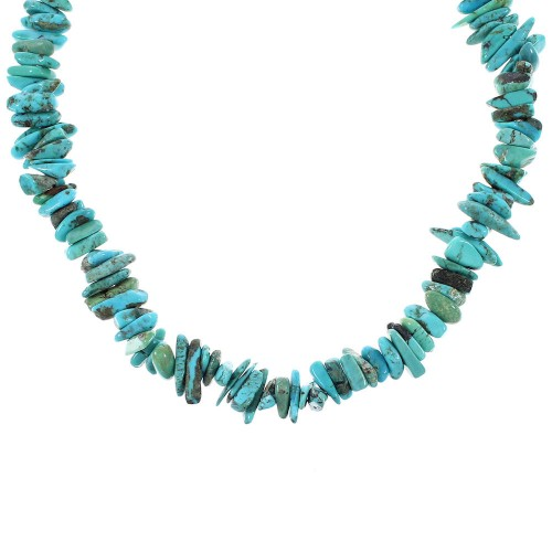 Turquoise Sterling Silver Bead Necklace RX96657