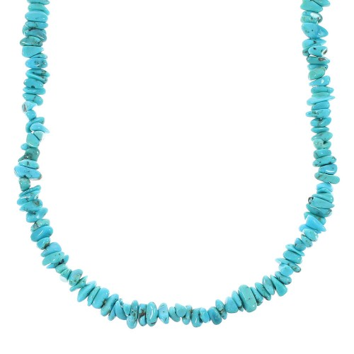 Turquoise Sterling Silver Jewelry Bead Necklace RX96668