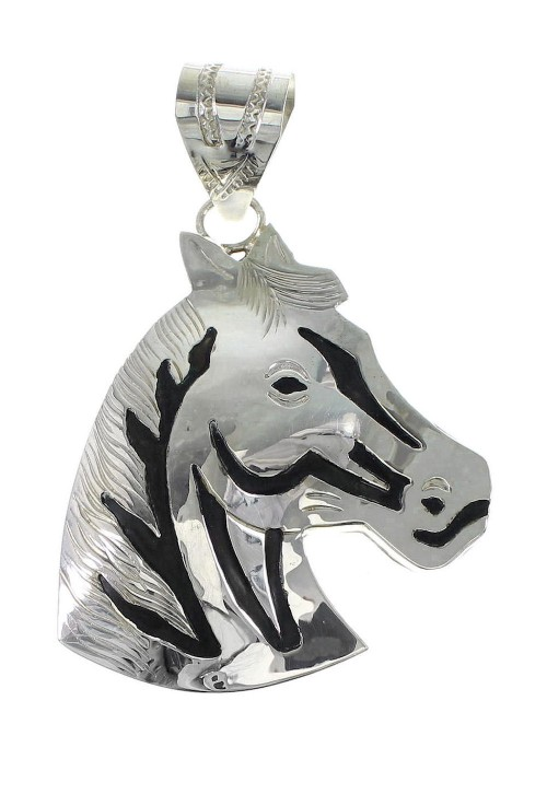Authentic Sterling Silver Navajo Horse Pendant AX96921
