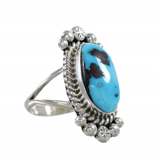Sleeping Beauty Turquoise Sterling Silver Native American Ring Size 7-1/4 AX97849