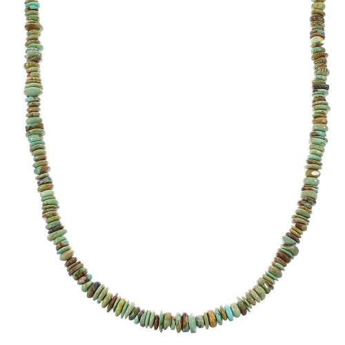 Sterling Silver Southwestern Turquoise Jewelry Bead Necklace AX98121
