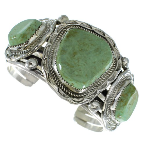Turquoise Genuine Sterling Silver Navajo Cuff Bracelet AX99186