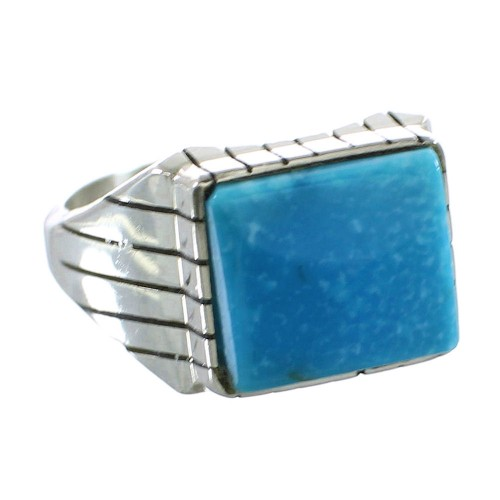 Turquoise Navajo Sterling Silver Ray Jack Ring Size 12-1/2 AX99493