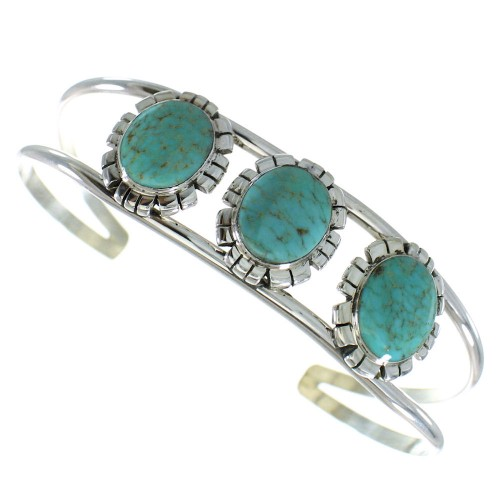 Southwest Sterling Silver Turquoise Cuff Bracelet AX99754