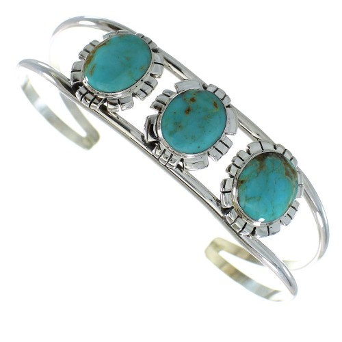 Genuine Sterling Silver Turquoise Cuff Bracelet AX99756
