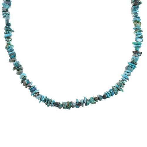Southwest Turquoise Genuine Sterling Silver Jewelry Bead Necklace RX99927