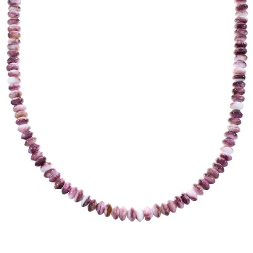 Purple Oyster Shell Sterling Silver Southwest Bead Necklace AX100054