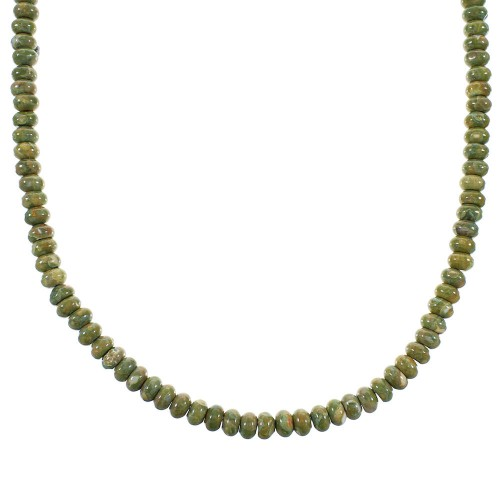 Rhyolite Sterling Silver Southwest Bead Necklace AX100060