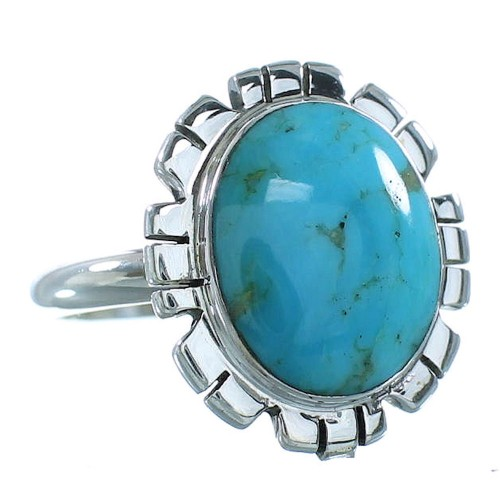 Turquoise Silver Southwest Ring Size 7-1/2 AX100153